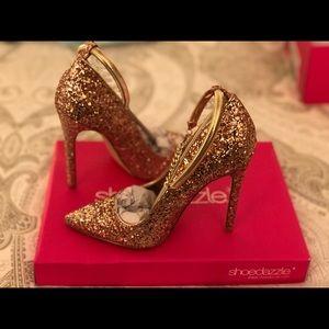 Shoe Dazzle Rosegold , Lousana Pumps Size 6